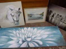*Four Prints Including Landscapes, Cityscape, etc.