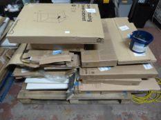 *Pallet of Flatpack Furniture Including Base Cabin
