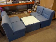 *Office Coffee Table and Four Upholstered Chairs