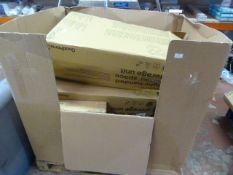 *Pallet of Three Righthanded Corner Storage Units