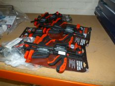 """*Six Packs of Two 6"""" Ratchet Bar Clamps (AF)"""