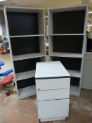 *Two Sets of Office Shelves ~160x62x30cm and a Three Drawer Storage Unit
