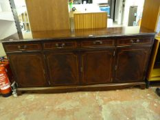 *Mahogany Effect Sideboard Four Drawers and Cupboards