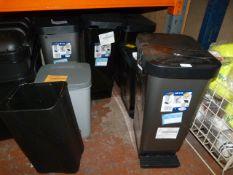 *Seven Assorted Waste Bins (AF)