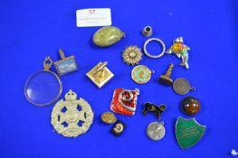 Badges, Brooches, Cufflinks, Pendants, etc.