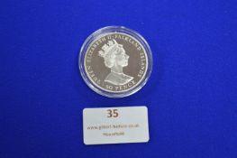 Commemorative Sterling Silver 40th Anniversary Falkland Isle 50 Pence