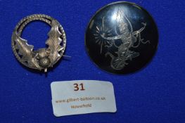 Two Sterling Silver Brooches