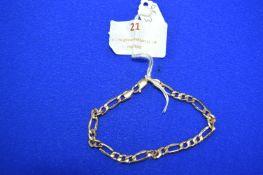 9k Gold Chain Bracelet ~3.4g
