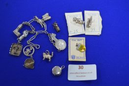 Continental Silver Charms