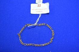 9k Gold Chain Bracelet ~2.4g