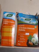 *2x 5kg Boxes of Organic Chicken Manure Pellets