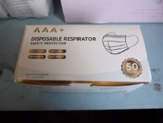 *Box of 50 AAA+ Disposable Respirators