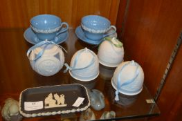 Wedgwood and Lladro Pottery plus Three Candle Ligh