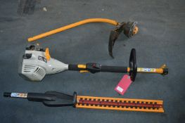 Ryobi Expand-It Petrol Hedge Trimmer with Extra Attachments