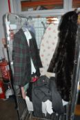 Cage of Ladies Clothing, Two Ironing Boards, Laund