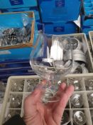 * 96 x brandy balloonn glasses and box. - Collection Address Waltham Abbey, EN9 1FE - Collection Dat