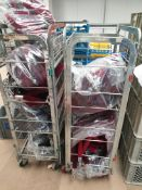 * Red and Black Barrier ropes with chrome handles. Approx qty 80. - Collection Address Waltham Abbey