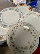 * 80 x vintage dinner plate (10inch) starter (7to9inch) side (6inch). Vintage style, assortment of p