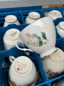* 75 x vintage tea cup, saucers. Vintage style, assortment of patteners. - Collection Address Walth