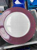 * 100 x 12inch purple rimmed plate. Schowald make. - Collection Address Waltham Abbey, EN9 1FE - Col