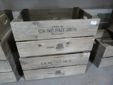 *Two Wooden French Cider Crates