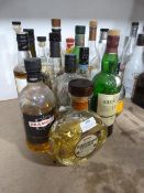 *Sixteen Part Used Bottles of Assorted Whiskeys Including Drambuie, Famous Grouse, Glen Fiddich, etc