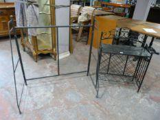 *Metal Shelf Unit and a Metal Shelf Frame