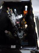 *Box of Part Used Spirits Including Vodka, Schnapps, etc.