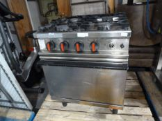 Commercial Gas Oven with Four Ring Hob