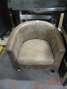Leatherette Tub Chair