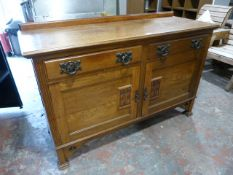 *Antique Oak Sideboard with Two Drawers