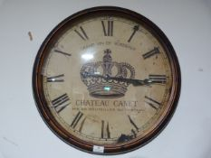 *Antique Style Wall Clock ~61cm wide