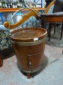 *Drinks Cupboard in the Shape of a Brass Bound Bucket