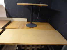 *Three Single Pedestal Cafe Tables and One Double
