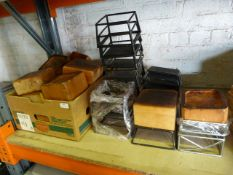 *Quantity of Wooden Serving Blocks on Metal Stands