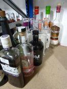*Thirteen Part Used Bottles of Gins Including Gordan's, Hendricks, Mom, Hooting Owl, etc.