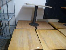 *Five Single Pedestal Cafe Tables