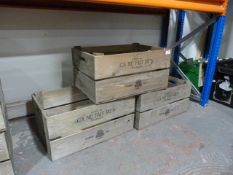 *Three Wooden French Cider Crates