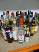 *Large Quantity of Assorted Spirits Including Liqueurs, Sambuca, Campari, Martini, etc.