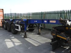 *MCL004 Dennison 2006 Tri-Axle Extendable Skeletal Trailer C188982 (Blue) 12271x2438mm