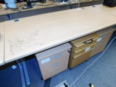 *Office Desk 1600x80 light pine style