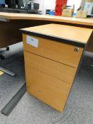 *3 Drawer under desk pedastal