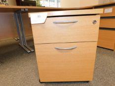 *2 Drawer Under Desk Pedastal Unit