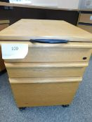 *3 Drawer underdesk Height Pedastal