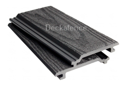 * 25 boards x WPC Wall Cladding, size 2.8m x 148mm x 21mm Graphite Grey Wood Embossed Finish (covers