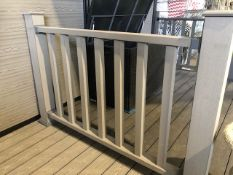 * Light Grey Balustrade & Railing Kit approx (10ft x 3.8ft high) 3m long x 1.14m High includes all f