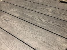 * 20 x Dark Grey Decking Boards 2.9m x 140mm x 25mm