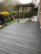 * Complete Dark Grey WPC decking Kit 2.9m x 2.9m includes joists - clips - decking - screws & fixing