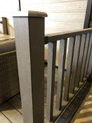 * Dark Grey Balustrade & Railing Kit approx (10ft x 3.8ft high) 3m long x 1.14m High includes all fi
