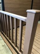 * Coffee Brown Balustrade & Railing Kit approx (10ft x 3.8ft high) 3m long x 1.14m High includes all